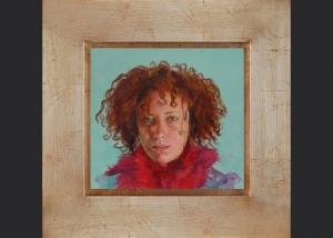 quien ilumina. óleo sobre lienzo. 2007. 20x22.5cm