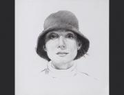 un rostro. grafito sobre papel. 2013. 13.5x13.5cm / marco 30x32cm