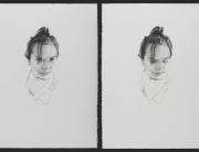 yo y la que fui. grafito sobre papel Fabriano Uno Smooth 640 gr. 2009. 56x76cm cada uno