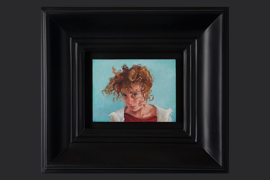 de mi mirada. óleo sobre lino. 2011. 13x17cm / marco 34.5x38.5cm
