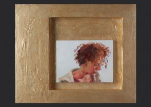 amanecer. óleo sobre lino. 2013. 13x17.3cm / marco 30x36.5cm