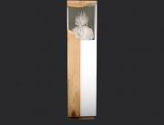 el desandar. ensamblaje madera y yeso. 2004. 135x32.5x32cm