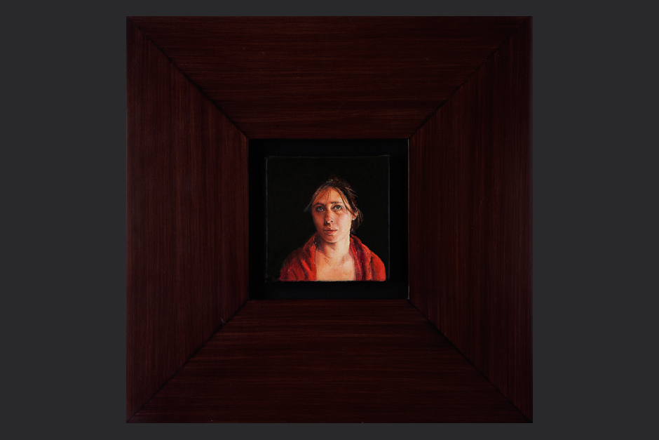 lejanía. óleo sobre lienzo. 2008. 10x10cm / marco 30x30cm
