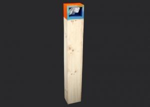 perdido en el silencio. ensamblaje madera y yeso. 2004. 125x21x14cm
