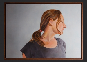 sombra de su sombra. óleo sobre lino, bastidor en cedro de cuñas. 2013. 75x50cm