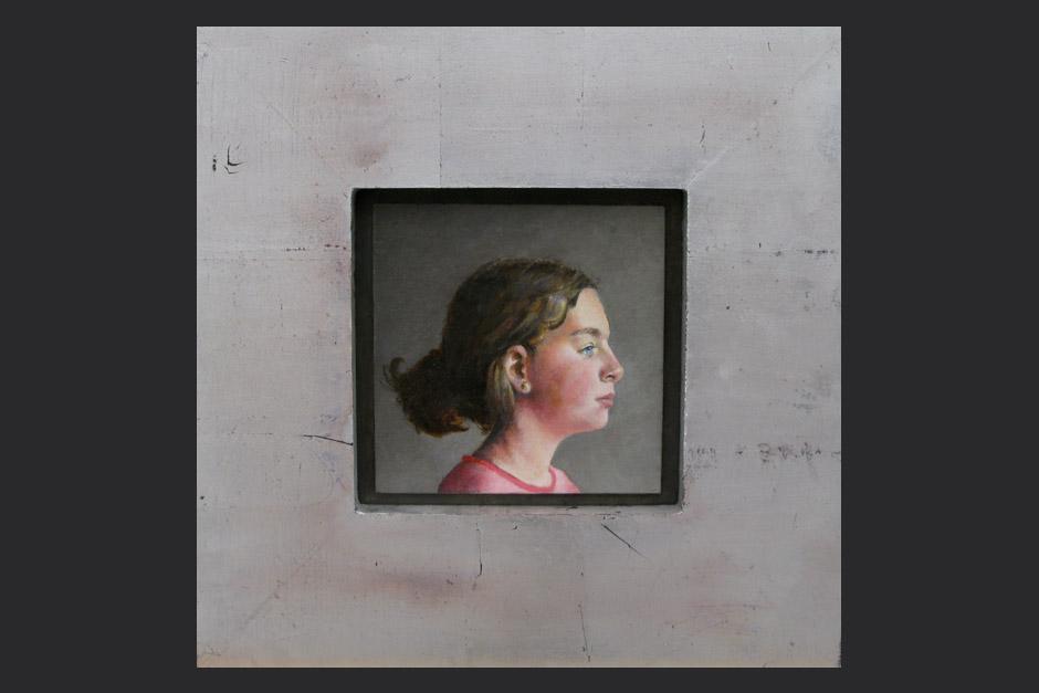 Lina Luna. óleo sobre lino pegado sobre MDF. 2008. 14x14cm