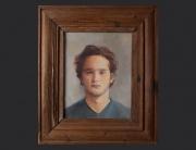 Sebastián Dávila, retrato. óleo sobre lienzo. 2005. 35.5x28cm